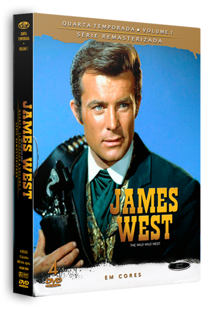 JAMES WEST - 4ª TEMPORADA - VOLUME 1 -  c/ 4 DVDs)